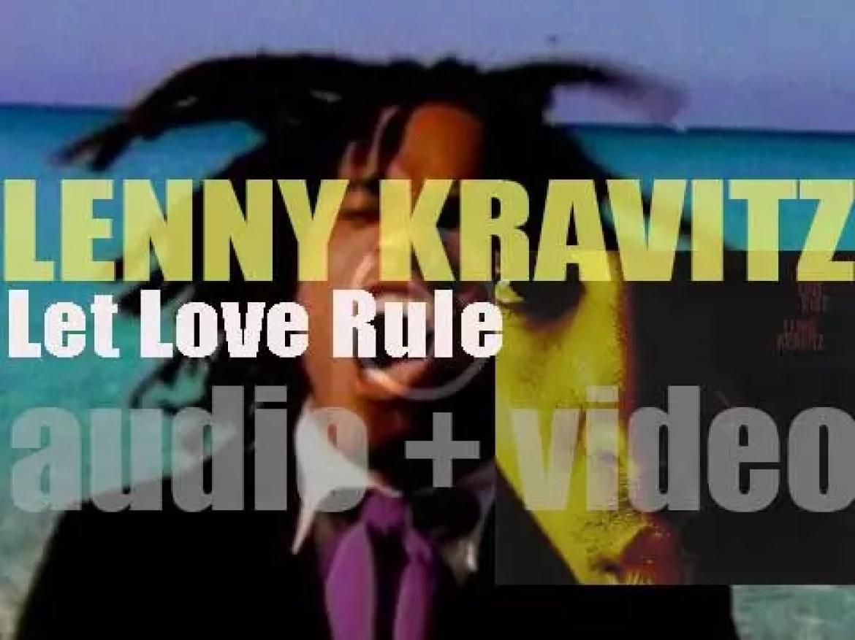 Virgin Records publish Lenny Kravitz' debut album : 'Let Love Rule' (1989)