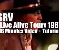 """Stevie Ray Vaughan """"Live Alive Tour"""" 1987"""