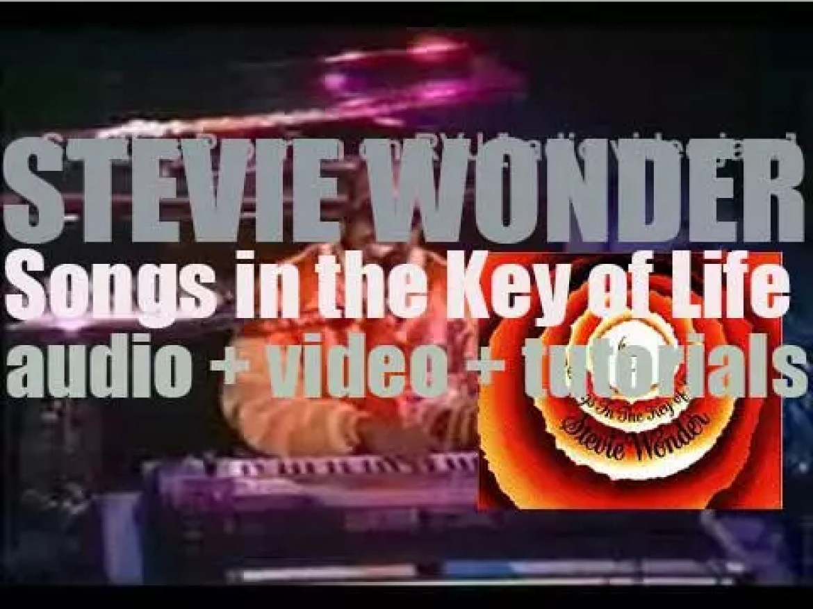 Stevie Wonder releases  his eighteenth album : 'Songs in the Key of Life' featuring 'Sir Duke' 'Pastime Paradise' and 'I Wish' (1976)