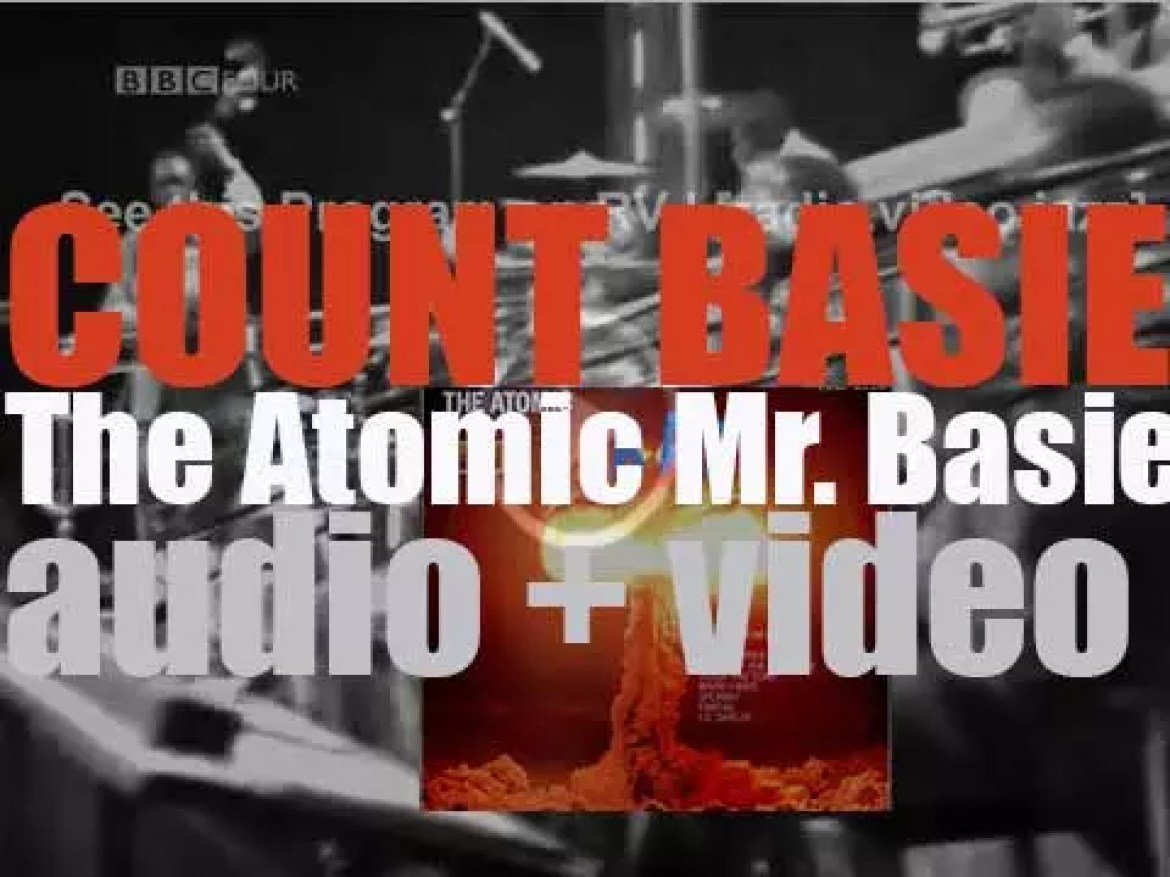 Count Basie records with his orchestra 'The Atomic Mr. Basie' for Roulette (1957)