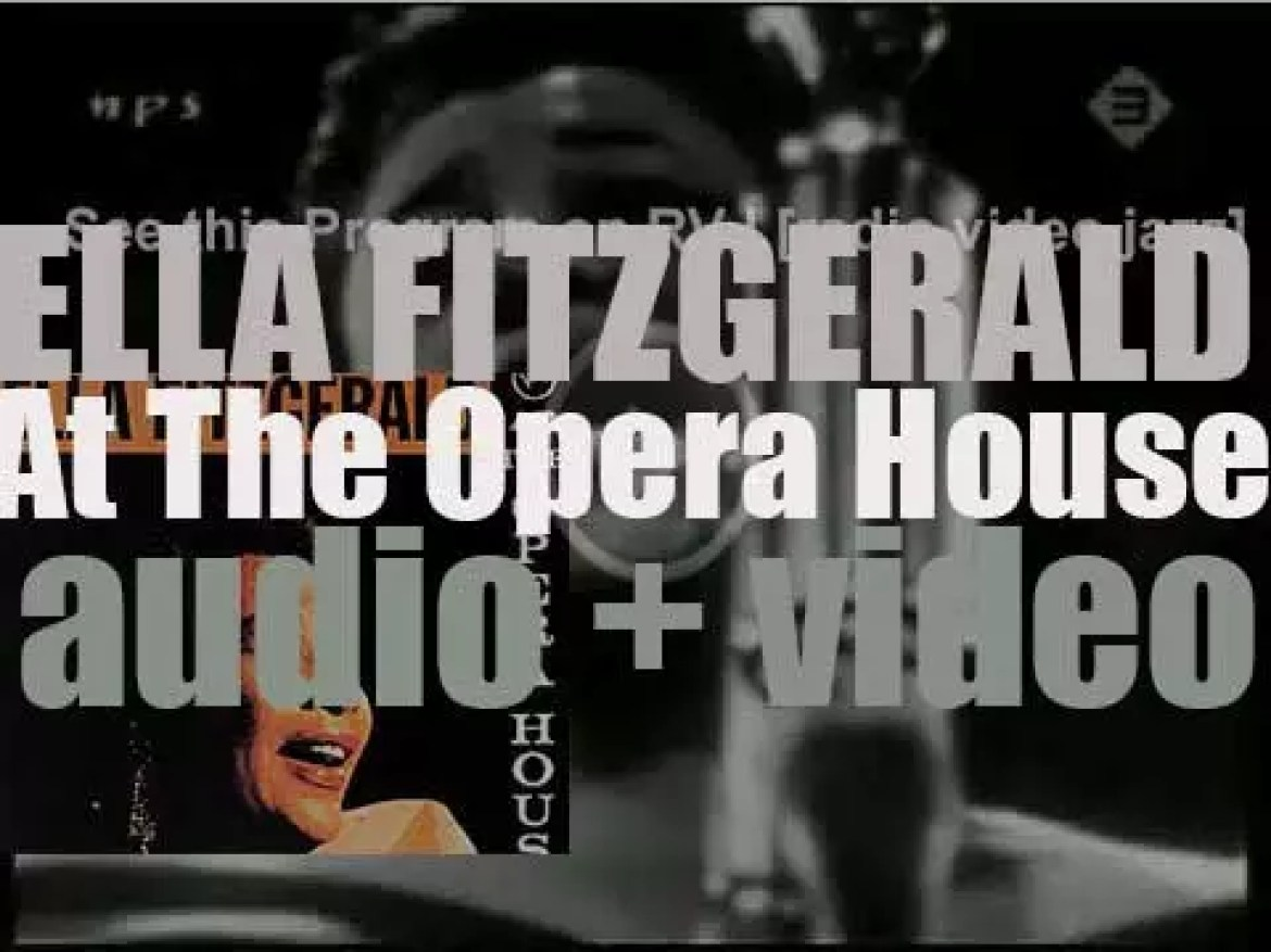 Ella Fitzgerald records  'At the Opera House' in Los Angeles for Verve (1957)