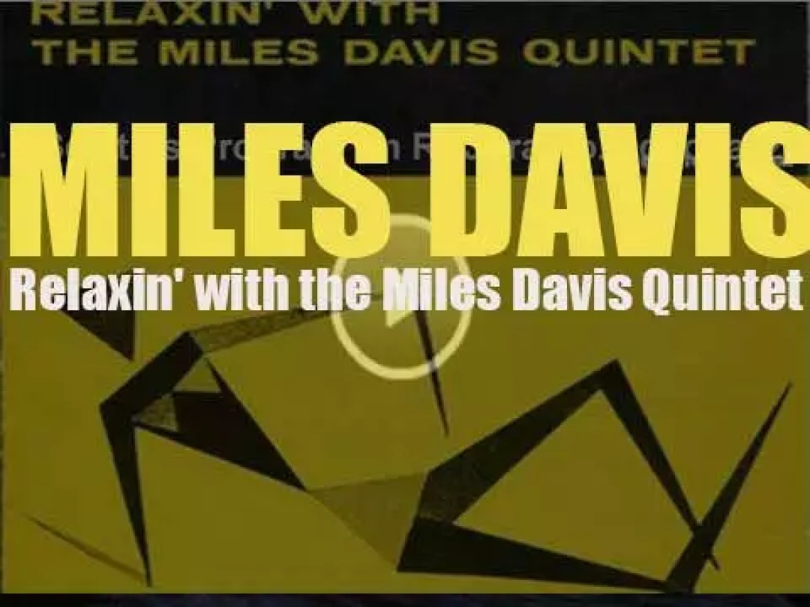 Prestige Records tape 'Relaxin' with the Miles Davis Quintet' featuring John Coltrane (1956)