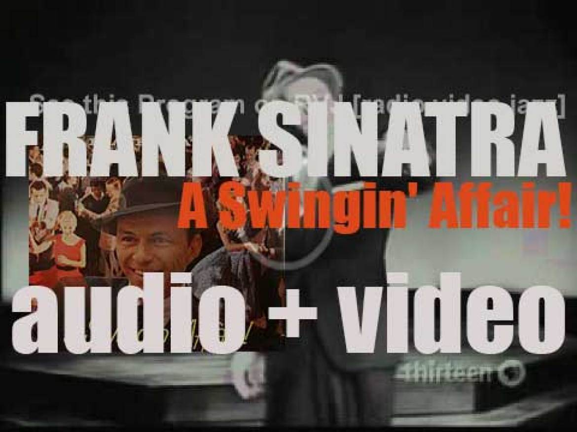 Frank Sinatra records 'A Swingin' Affair!' an album with Nelson Riddle as arranger and conductor (1956)