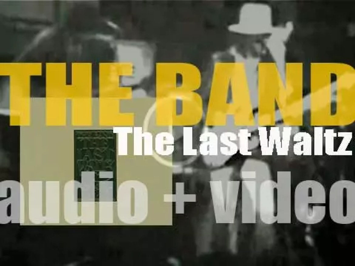 The Band record 'The Last Waltz'  with Eric Clapton, Neil Diamond, Dr. John, Bob Dylan, Emmylou Harris, Joni Mitchell, Van Morrison and more guests (1976)