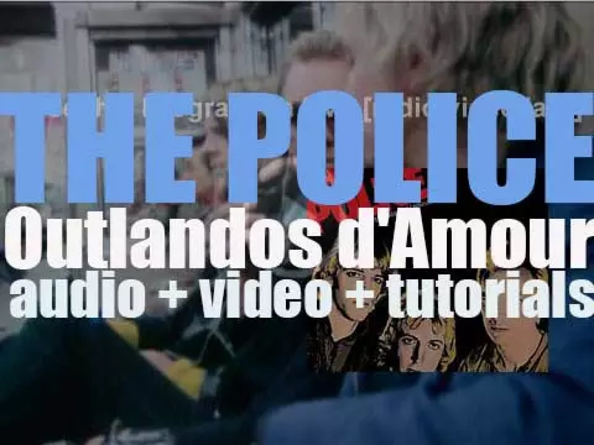 The Police release  their debut album : 'Outlandos d'Amour' featuring 'Roxanne,' 'Can't Stand Losing You' and 'So Lonely' (1978)