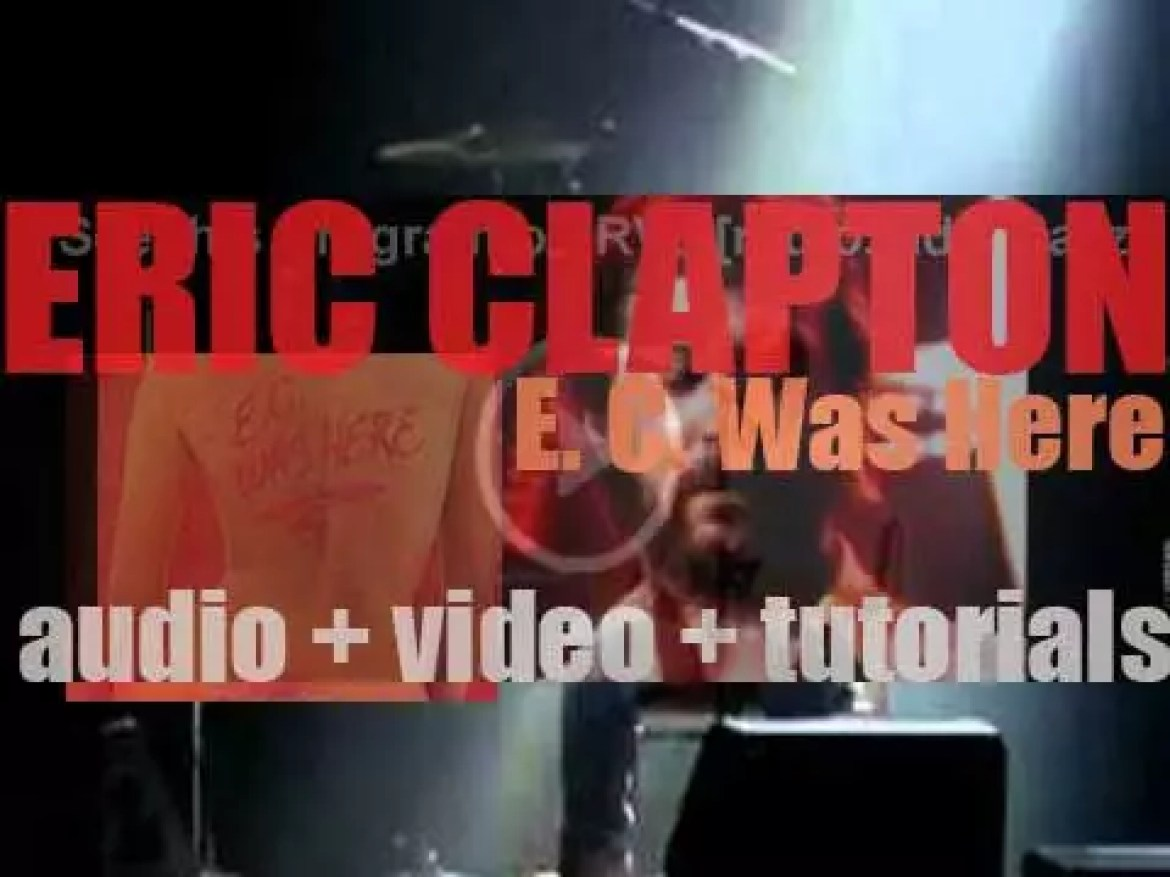 Eric Clapton records parts of the album 'E. C. Was Here' at the Hammersmith Odeon in London (1974)