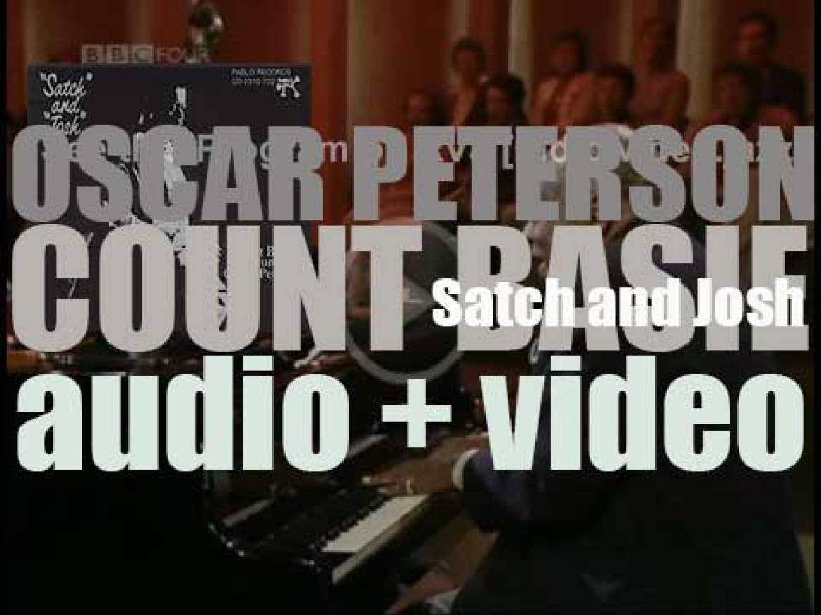 Oscar Peterson and Count Basie record the album 'Satch and Josh' in Los Angeles (1974)