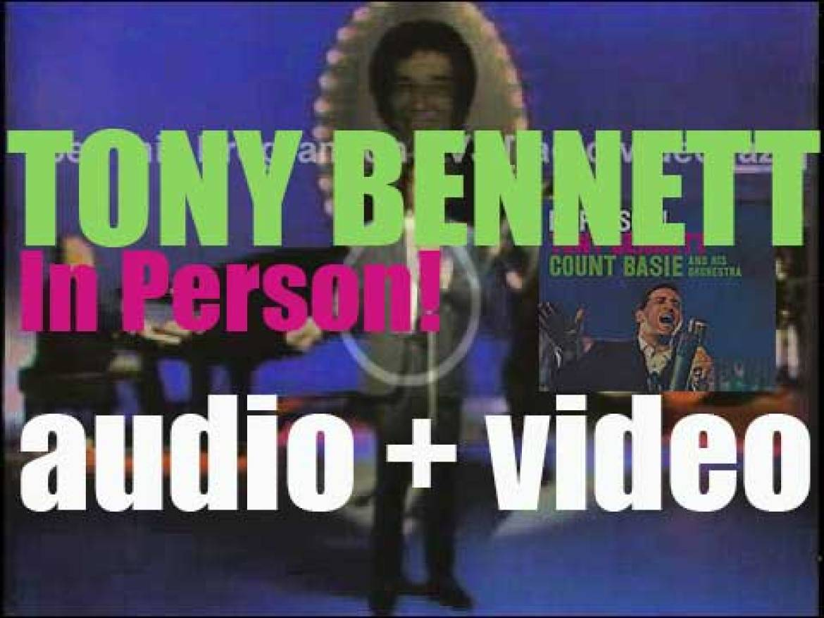 Tony Bennett records 'In Person!' an album with the Count Basie Orchestra (1958)