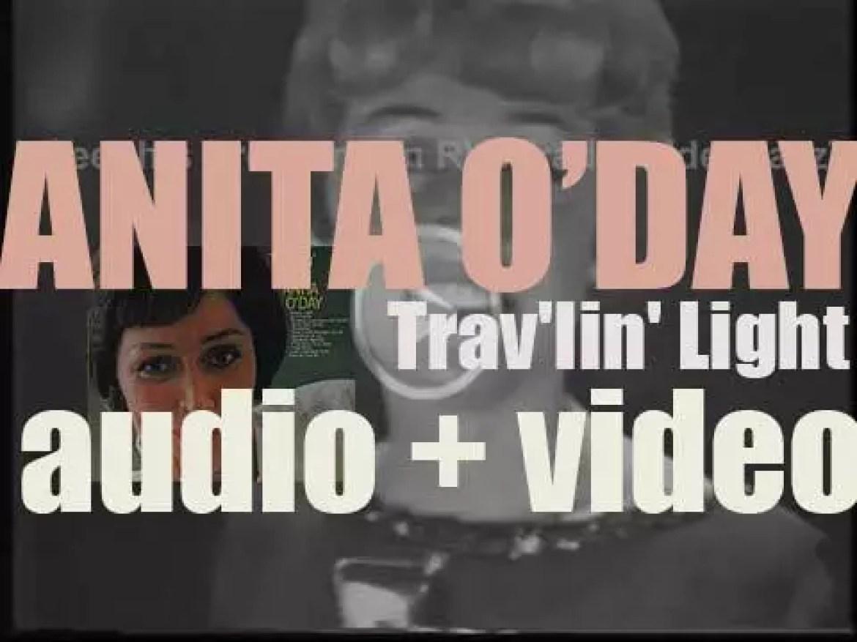 Anita O'Day begins the recording of 'Trav'lin' Light' an album for Verve (1961)