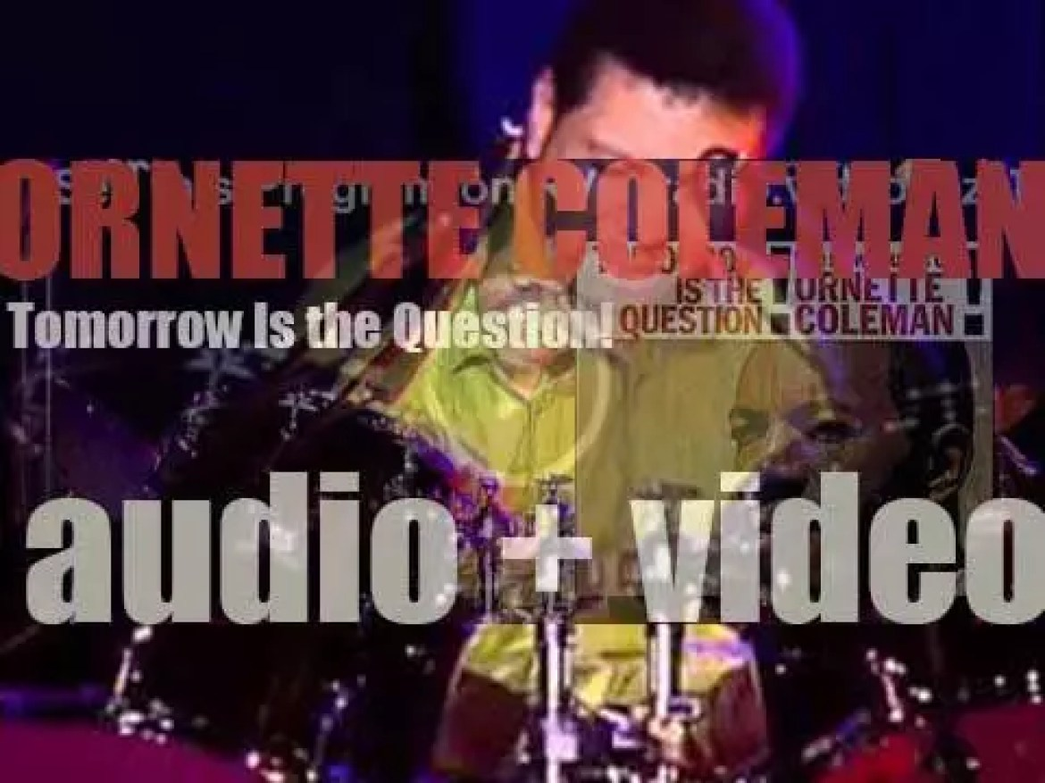 Ornette Coleman begins the recording of 'Tomorrow Is the Question!' with Don Cherry, Percy Heath, Shelly Manne and Red Mitchell (1959)