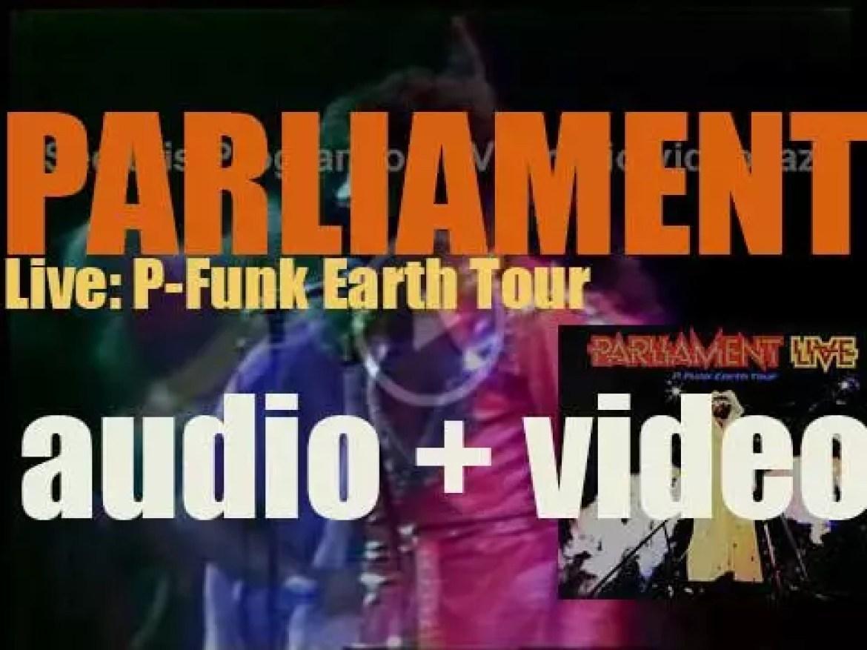 Parliament record a  live double album : 'Live: P-Funk Earth Tour' at the Oakland Coliseum (1977)