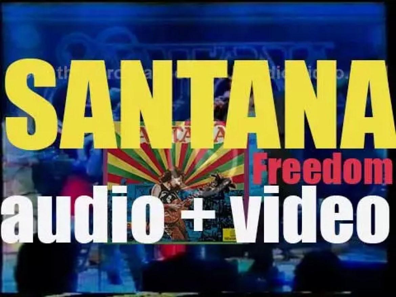 Columbia publish Santana's fourteenth album : 'Freedom' featuring Buddy Miles as a vocalist (1987)