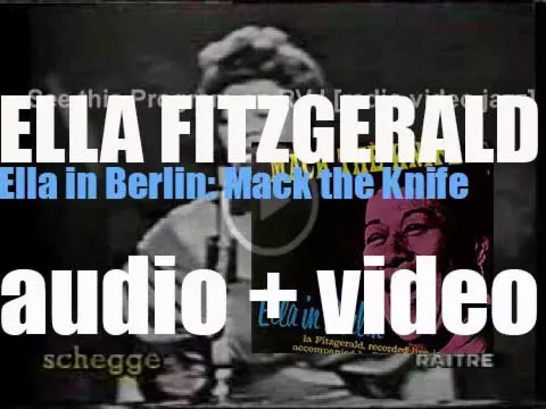 Ella Fitzgerald records 'Ella in Berlin' a live album for Verve (1960)