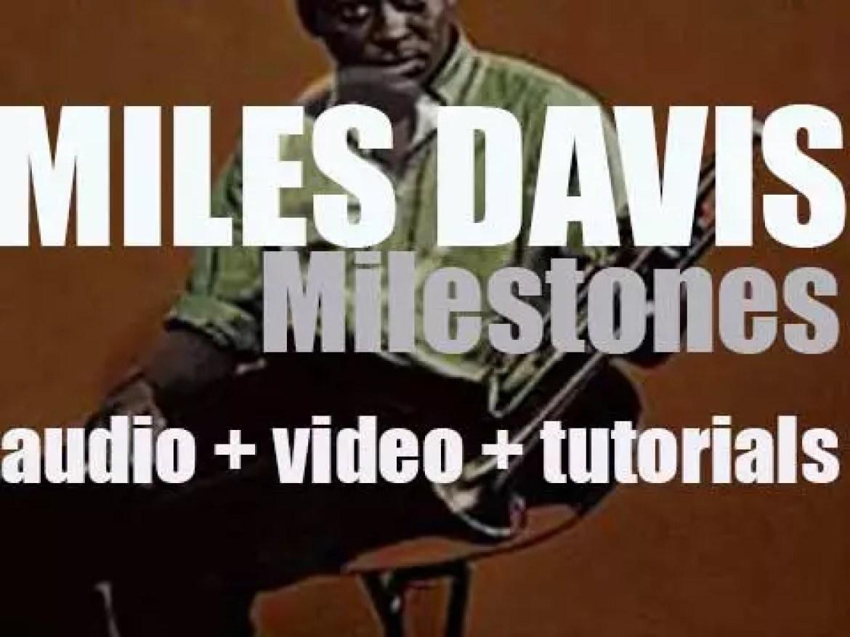 Miles Davis records with John Coltrane, 'Milestones' an album for Columbia (1958)