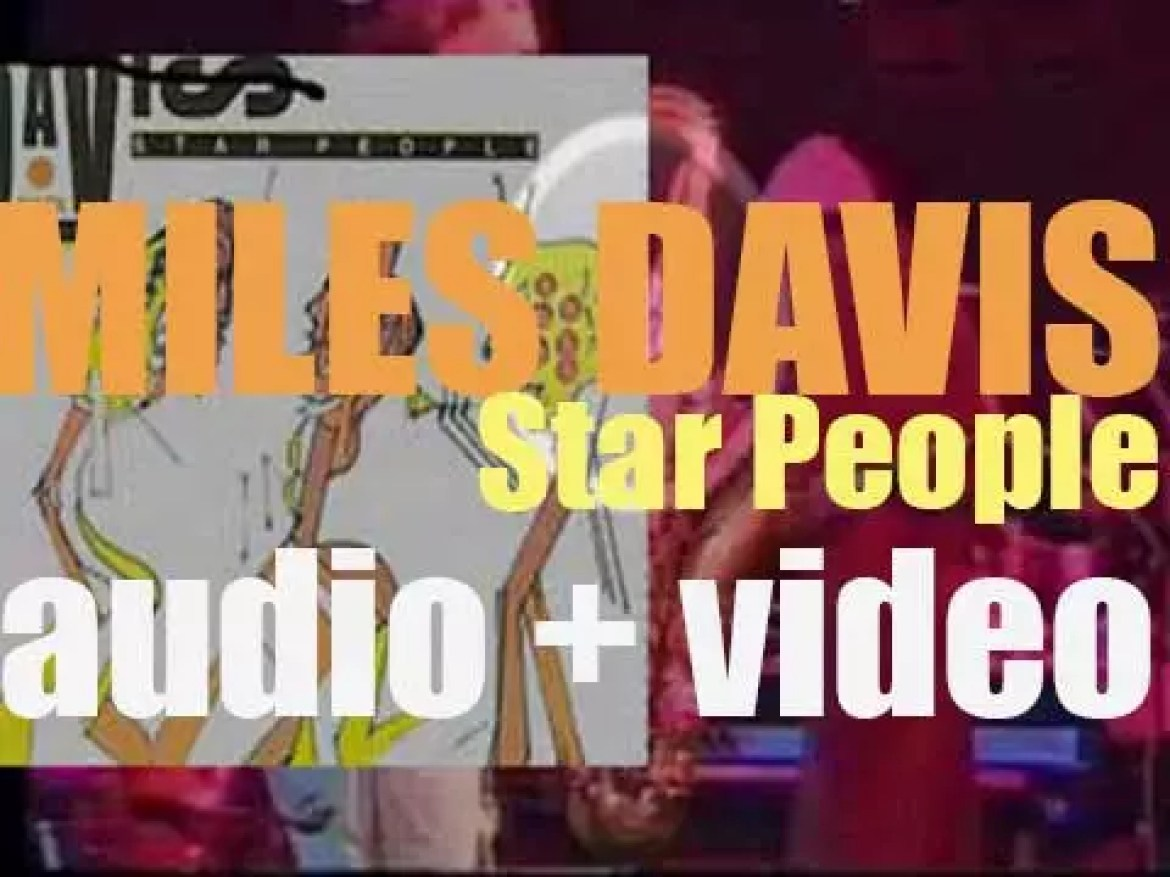 Miles Davis records with John Scofield and Mike Stern, 'Star People,' an album for Columbia (1983)