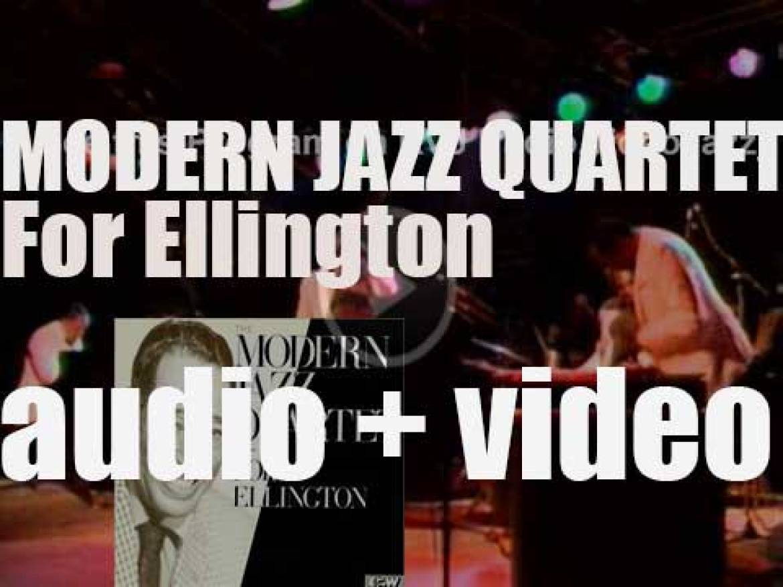 Modern Jazz Quartet record 'For Ellington' a tribute album for East West (1988)