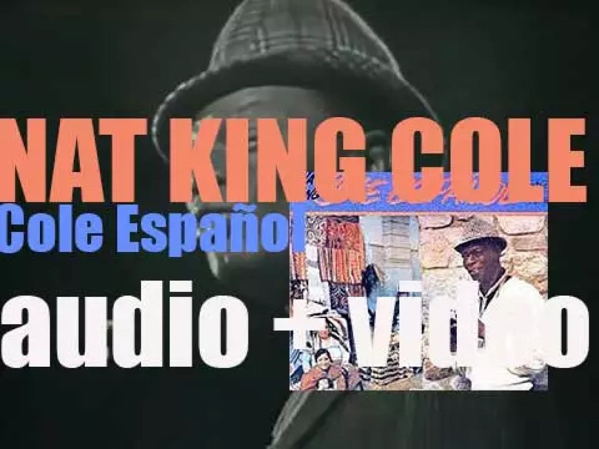 Nat King Cole begins the recording of 'Cole Español,' an album arranged by Nelson Riddle (1958)