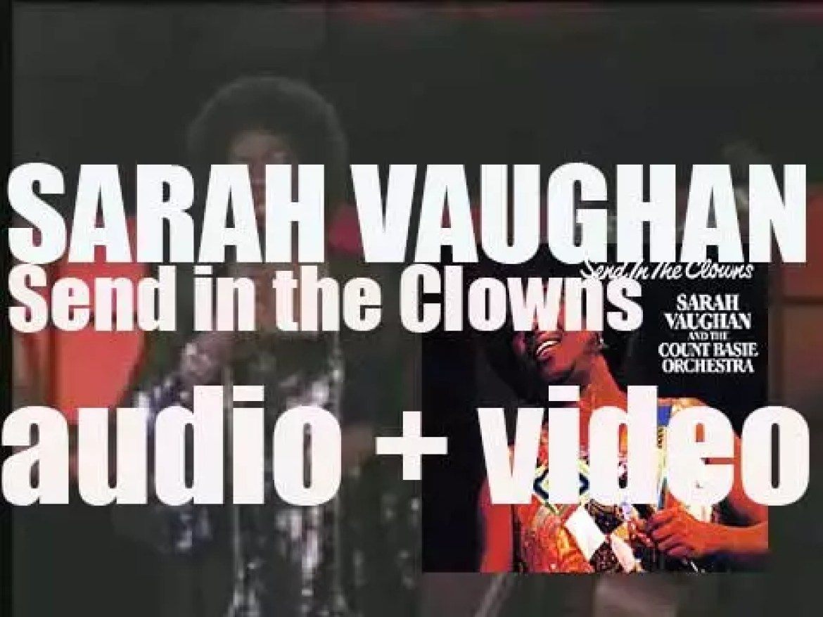 Sarah Vaughan records with the Count Basie Orchestra, 'Send in the Clowns' an album for Pablo (1981)