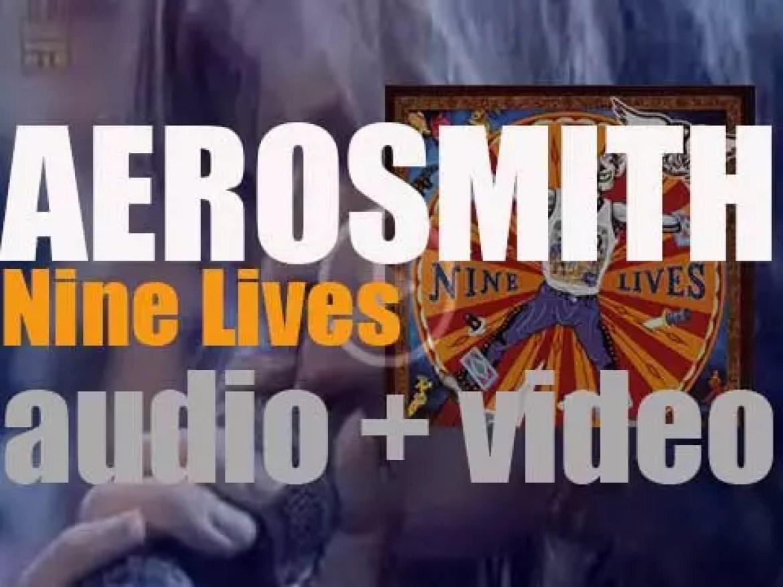 Columbia publish Aerosmith's  twelfth album : 'Nine Lives' featuring 'Pink' (1997)