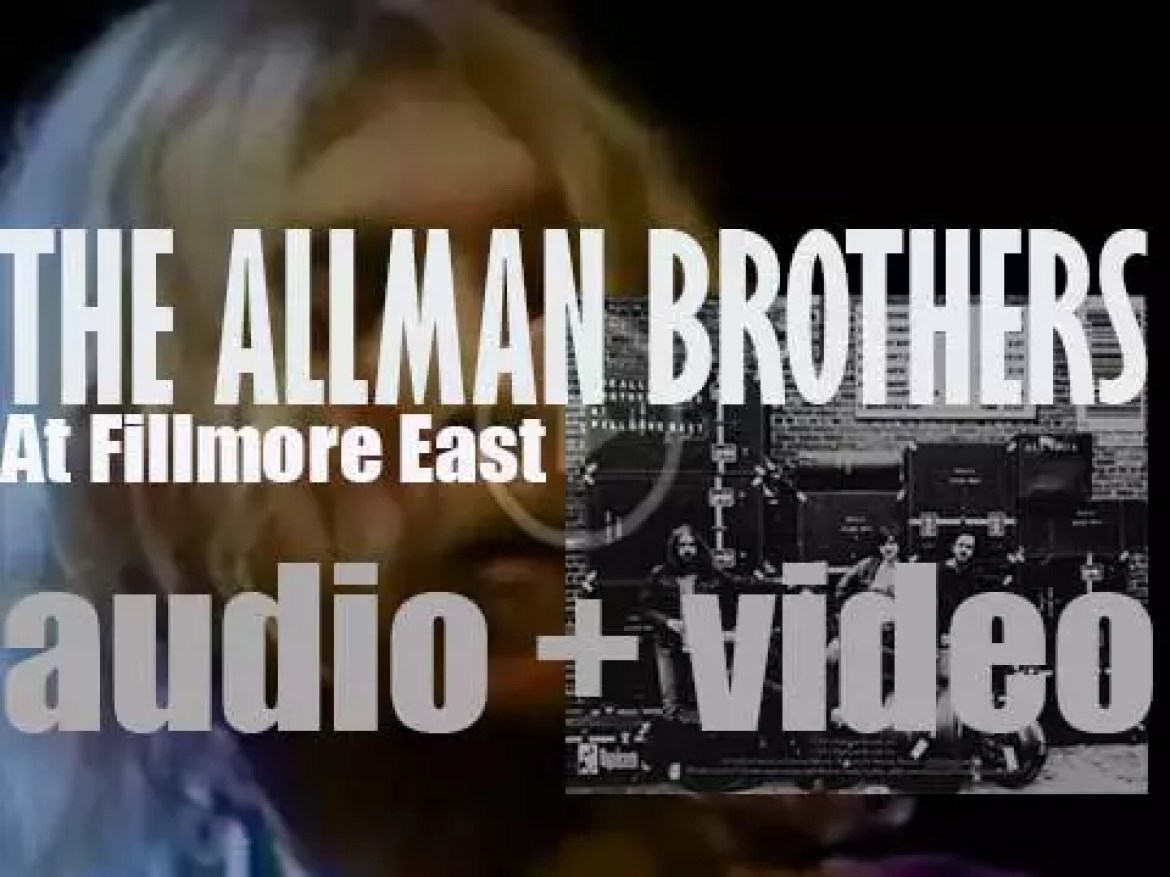 The Allman Brothers Band record their first live album 'At Fillmore East' (1971)