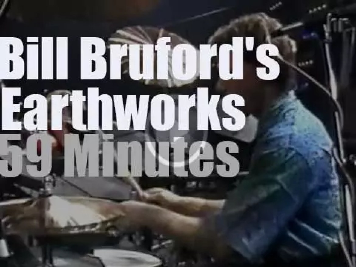 Bill Bruford's Earthworks are in Francfort, Germany (1988)