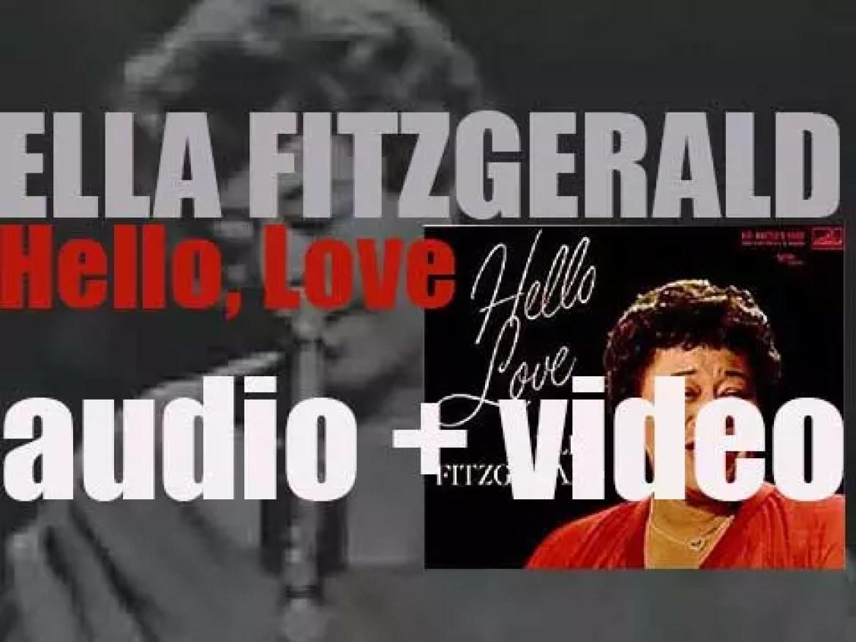 Ella Fitzgerald starts the recording of the album 'Hello, Love' produced By Norman Granz (1960)