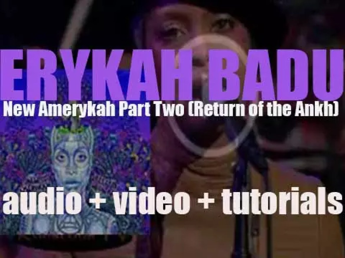 Erykah Badu releases her fifth album : 'New Amerykah Part Two (Return of the Ankh)'  featuring 'Window Seat' (2010)