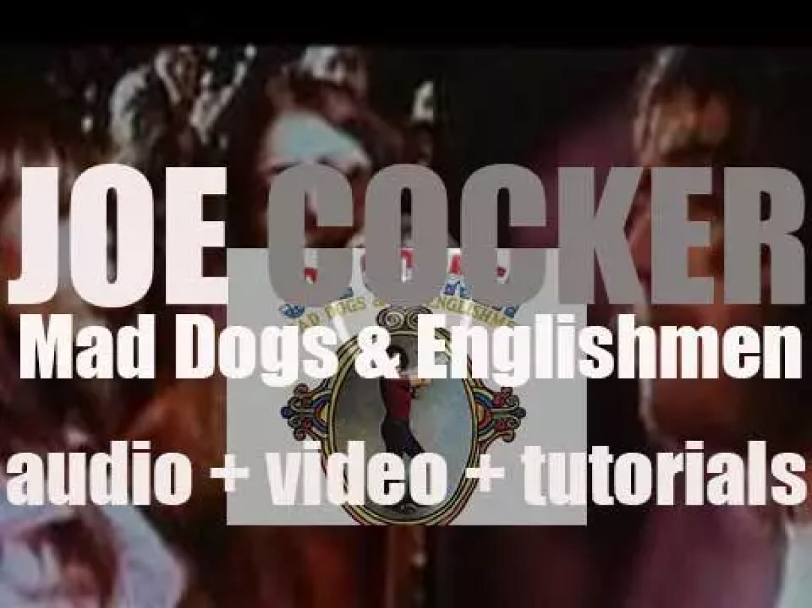 Joe Cocker records 'Mad Dogs & Englishmen' at Fillmore East with Leon Russell et al (1970)