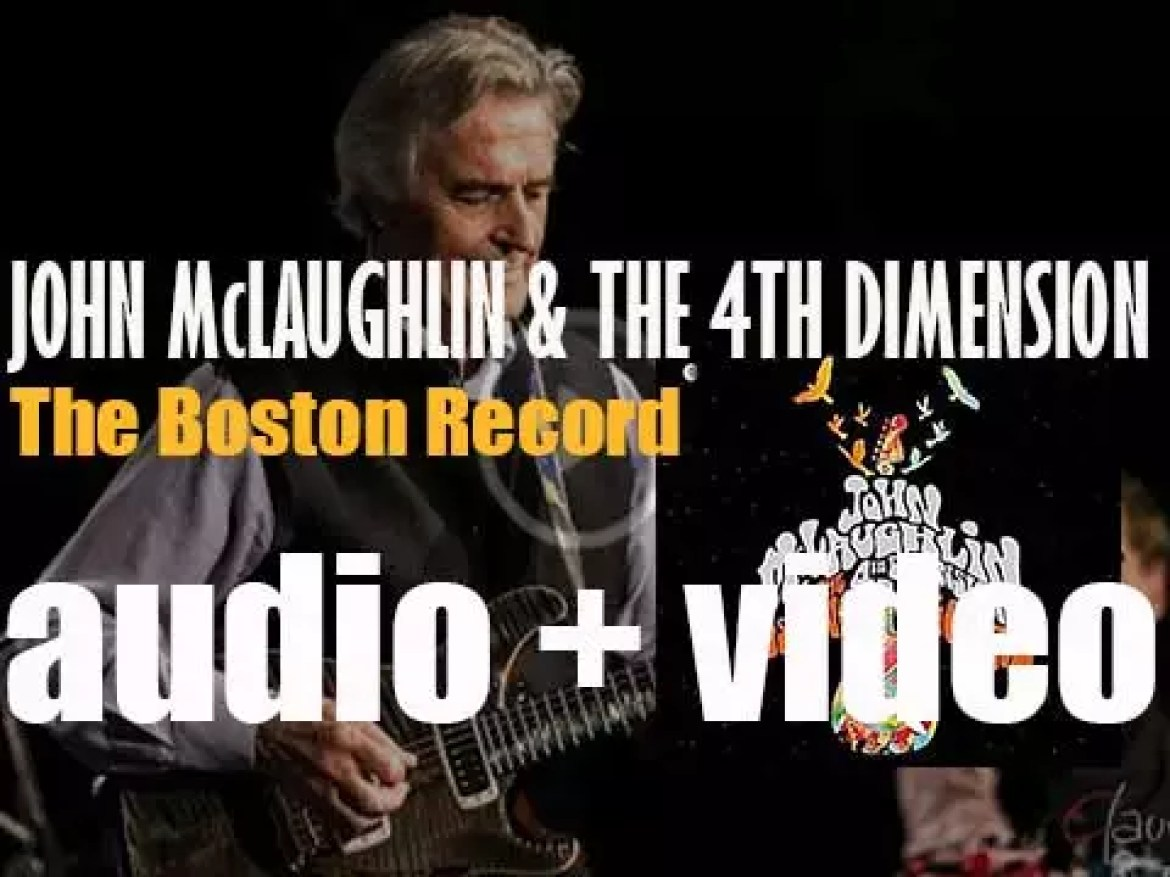 Abstract Logix publish 'The Boston Record' by John McLaughlin & The 4th Dimension (2014)