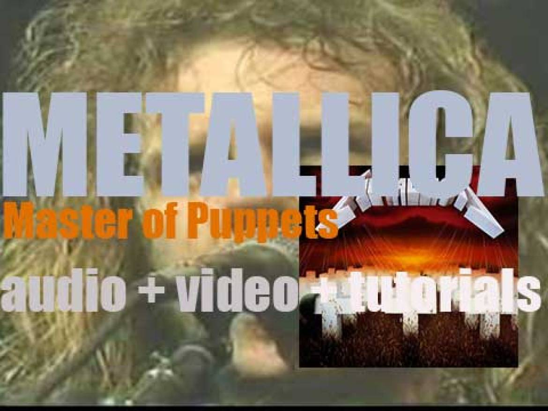 Elektra publish Metallica's third album : 'Master of Puppets,' a musical landmark (1986)