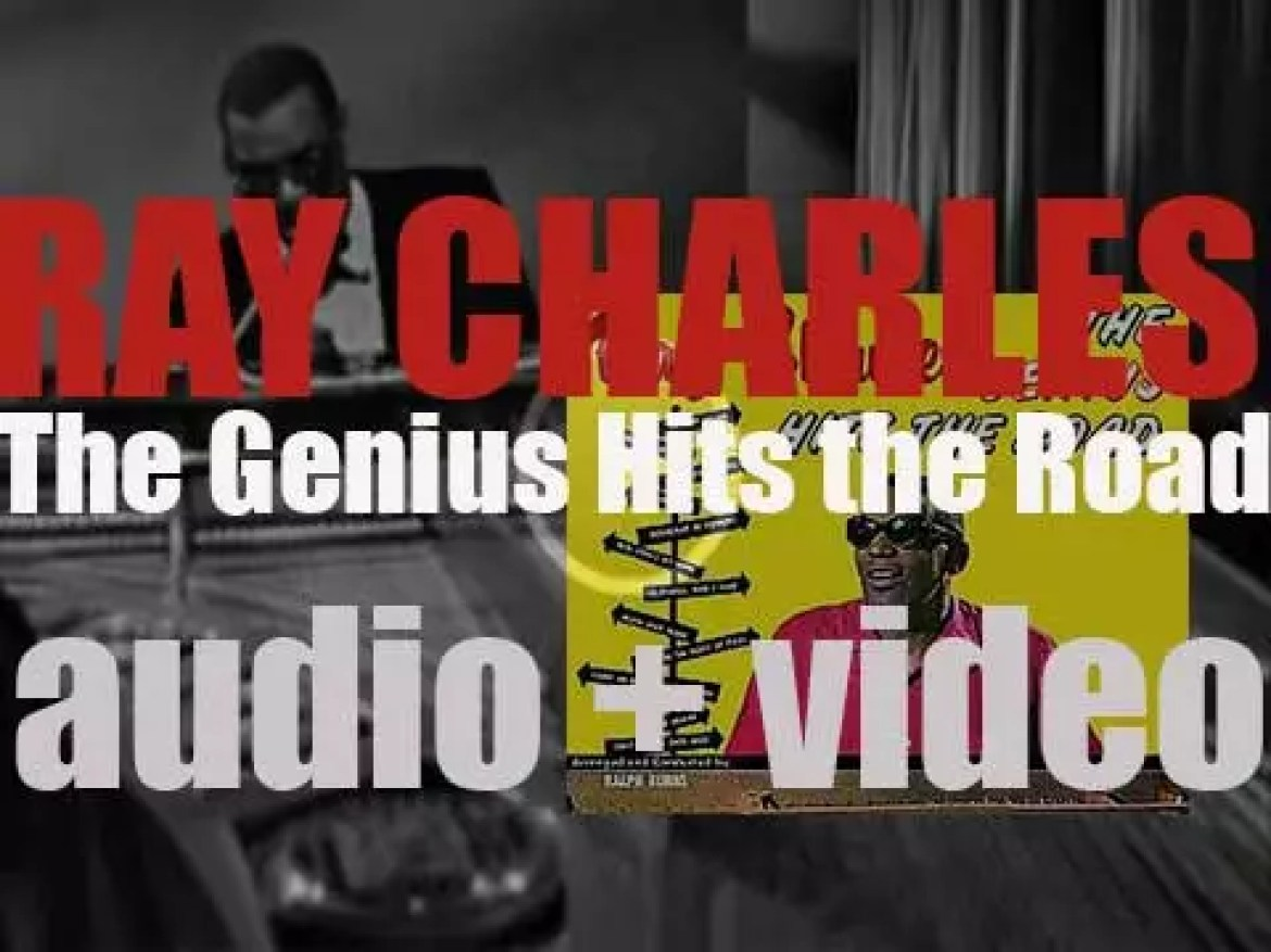 Ray Charles records in a New-York studio 'The Genius Hits the Road' (1960)