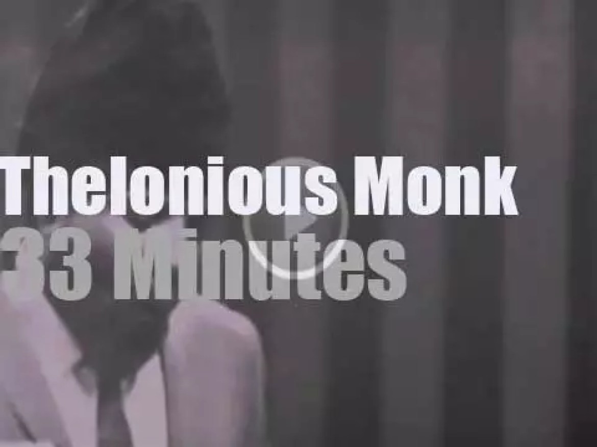 Thelonious Monk plays at Marquee Club in London (1965)