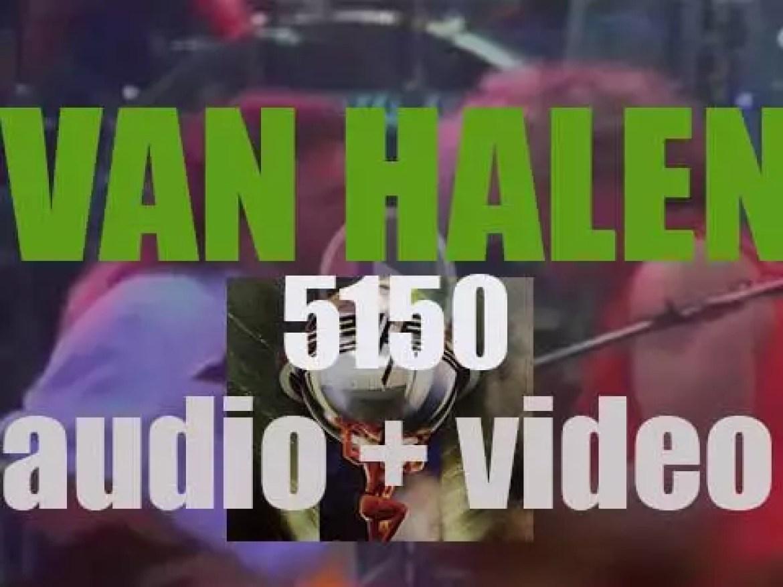 Van Halen release '5150,' their seventh album featuring Sammy Hagar as a singer (1986)