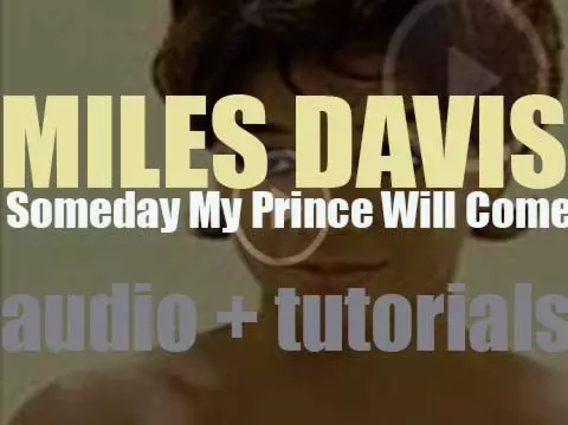 Miles Davis wraps up the recording of the 'Someday My Prince Will Come' album (1961)