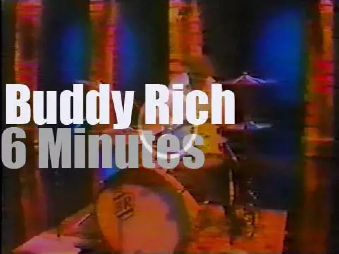 Buddy Rich plays for Johnny Carson (1976)