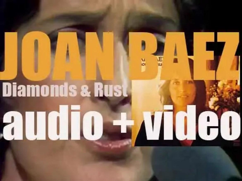A&M Records publish Joan Baez' 'Diamonds & Rust' (1975)