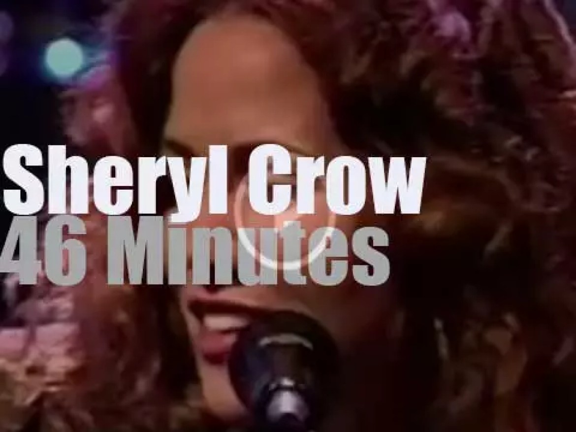 """On TV today,  Sheryl Crow """"Unplugged""""- (1995)"""