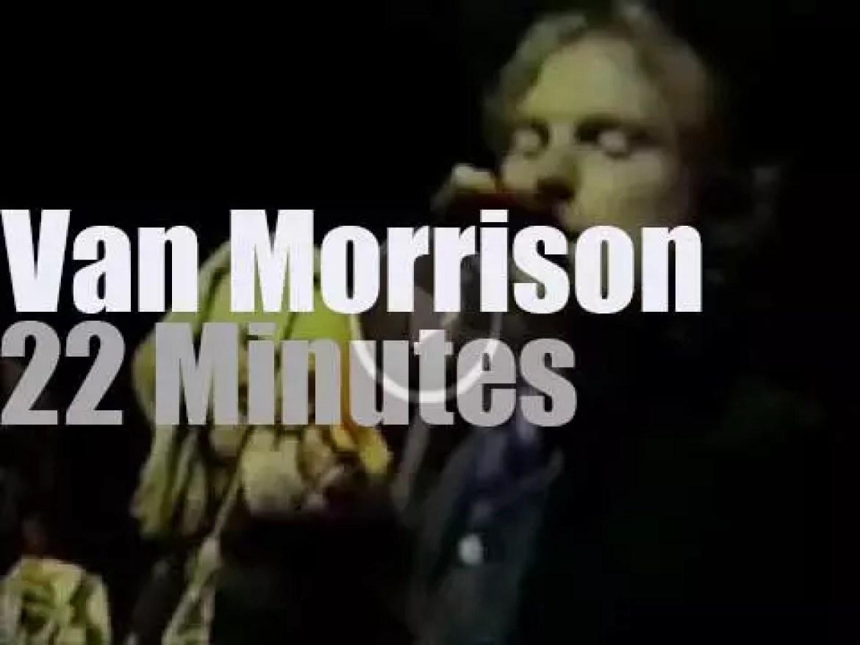 """On TV today, Van Morrison  at """"Don Kirshner's Rock Concert"""" (1973)"""
