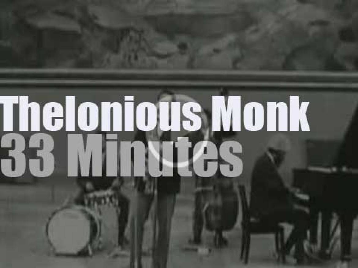 Norwegian TV tapes Thelonious Monk  in Oslo (1966)
