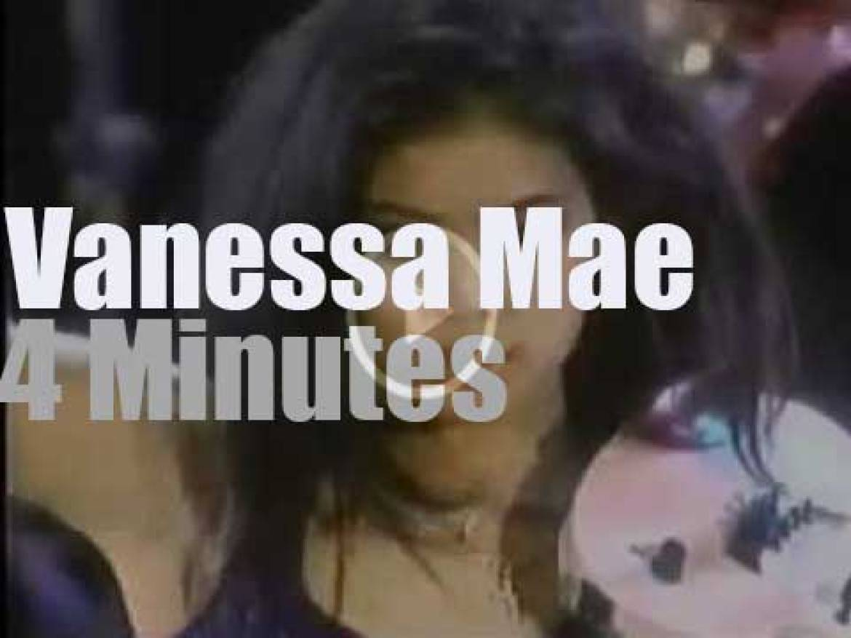 Vanessa Mae is awarded in Monaco (1987)