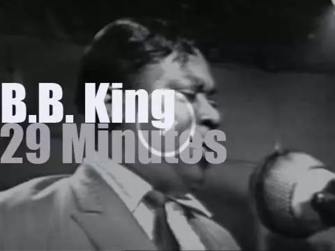 """On TV today, B.B.King is on """"Jazz Casual""""  (1968)"""