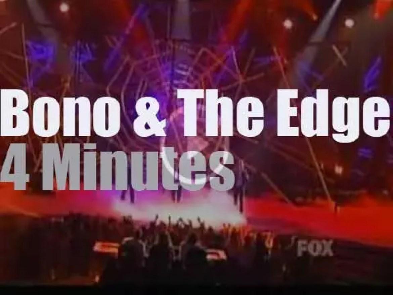 Bono,  The Edge and Spiderman are on American TV  (2011)