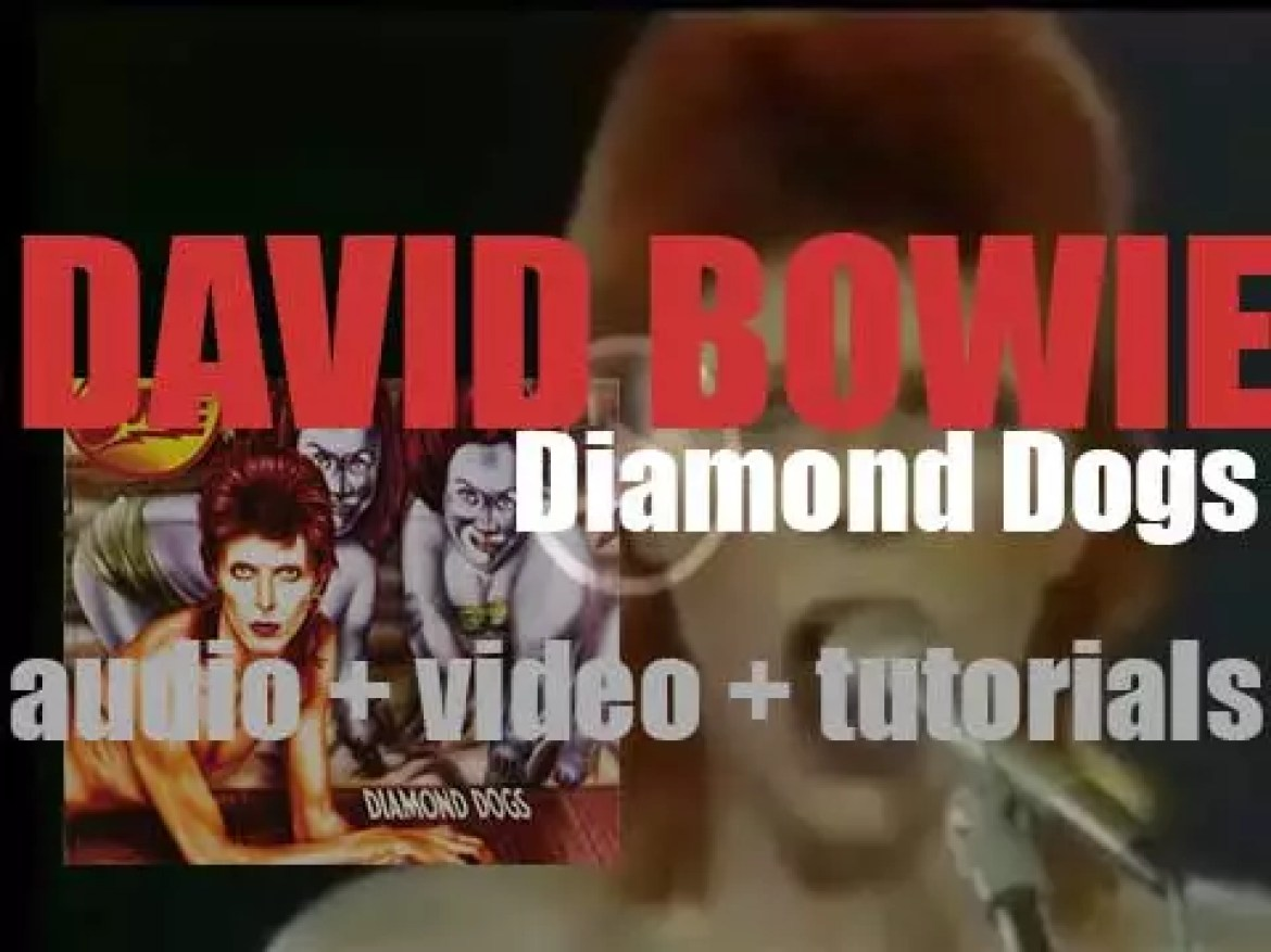 David Bowie releases his eighth album : 'Diamond Dogs' featuring 'Rebel Rebel' and '1984' (1974)