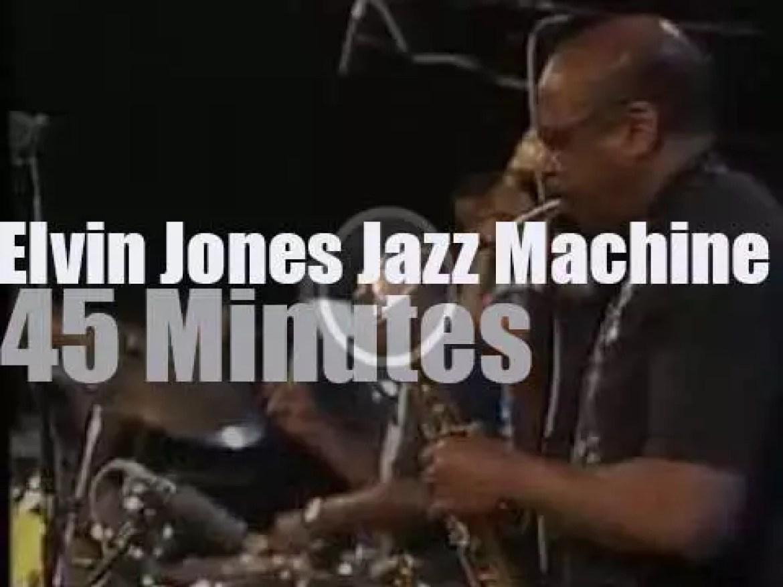 Elvin Jones machines in Bern, Switzerland (1991)