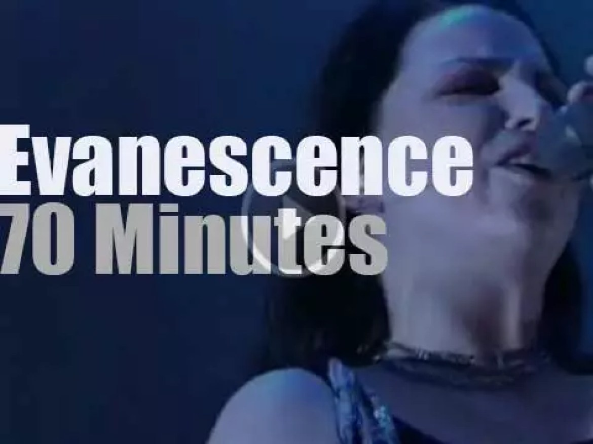 Evanescence  attends a rock festival in Germany  (2007)