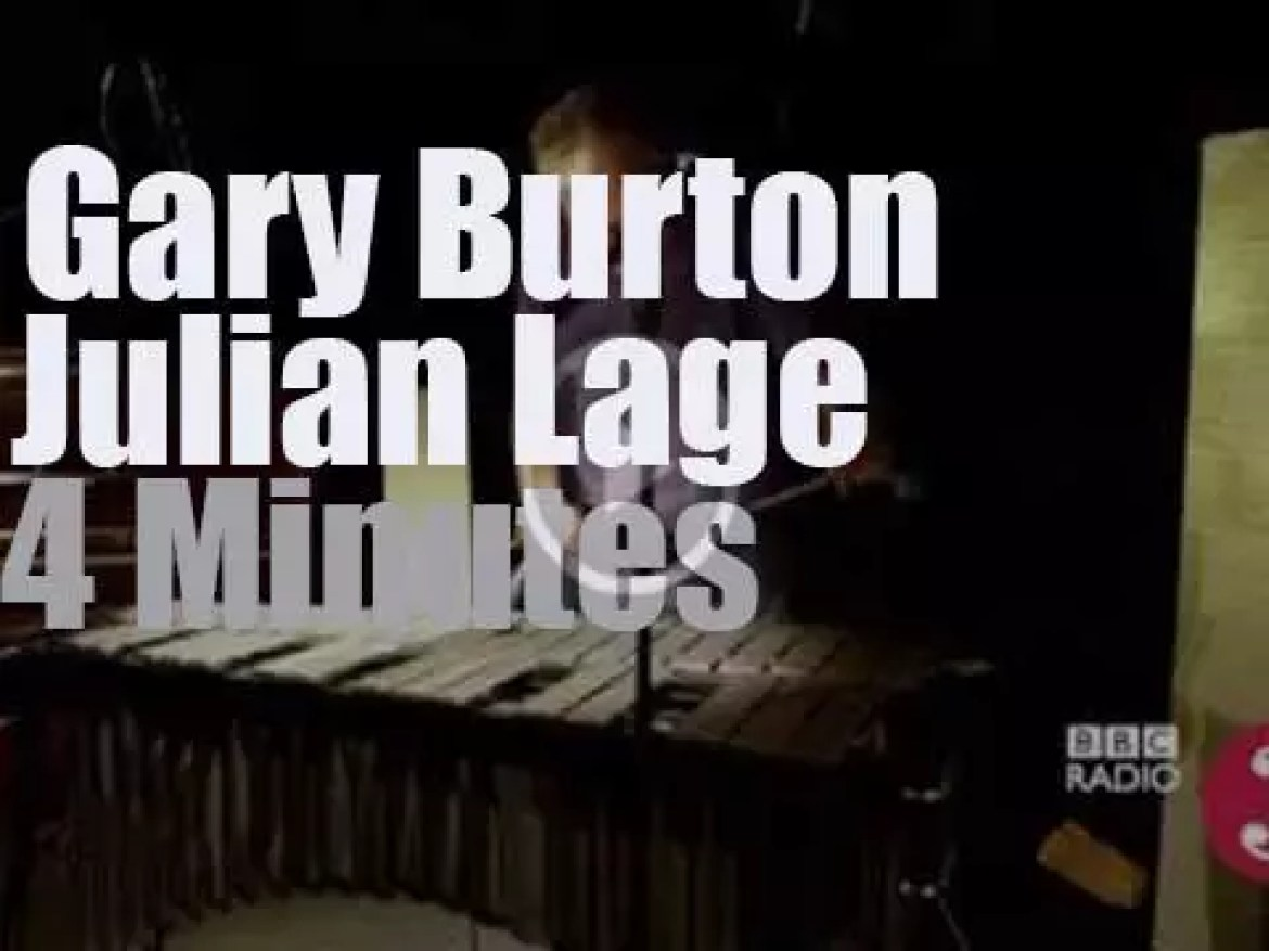 """Gary Burton & Julian Lage tape a song for """"Jazz on 3: """" (2013)"""