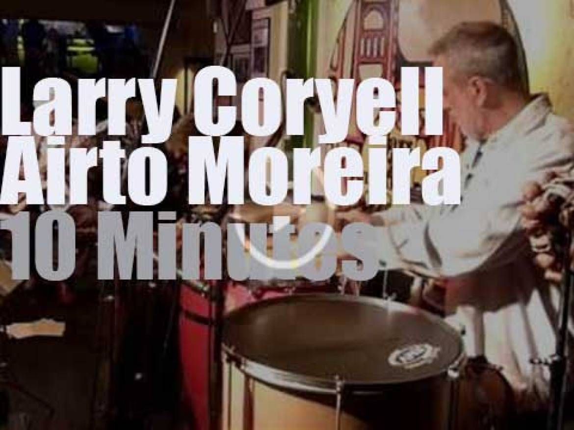 Larry Coryell teams up with Airto Moreira in Germany (2013)