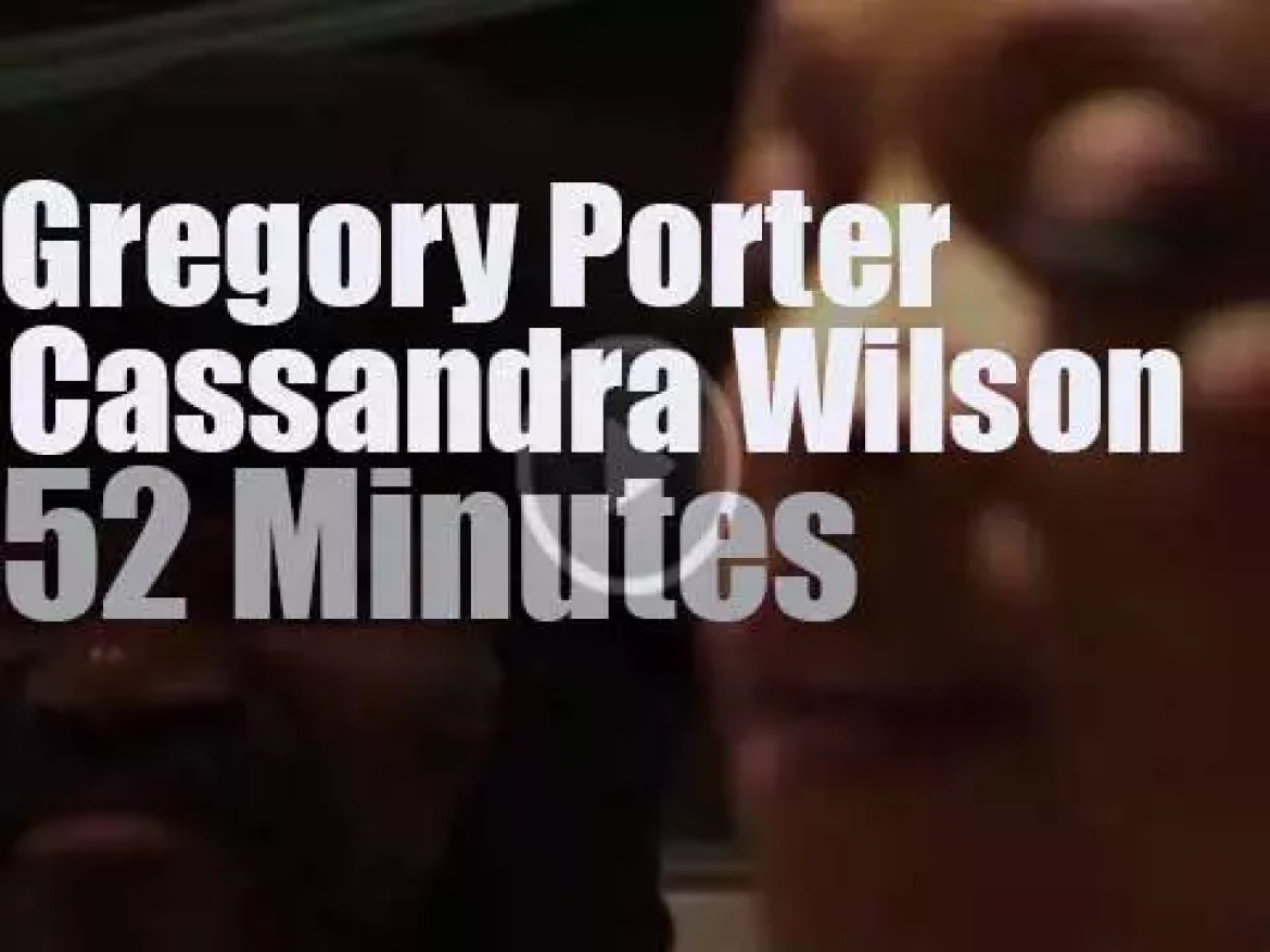On TV today, Gregory Porter & Cassandra Wilson hang out in NYC (2014)