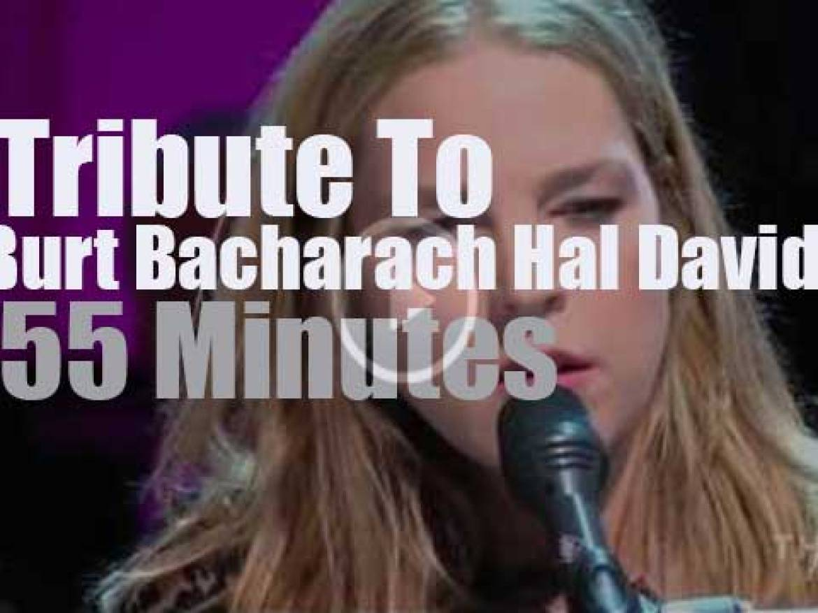 On TV today, a tribute to Hal David & Burt Bacharach at the White House (2012)