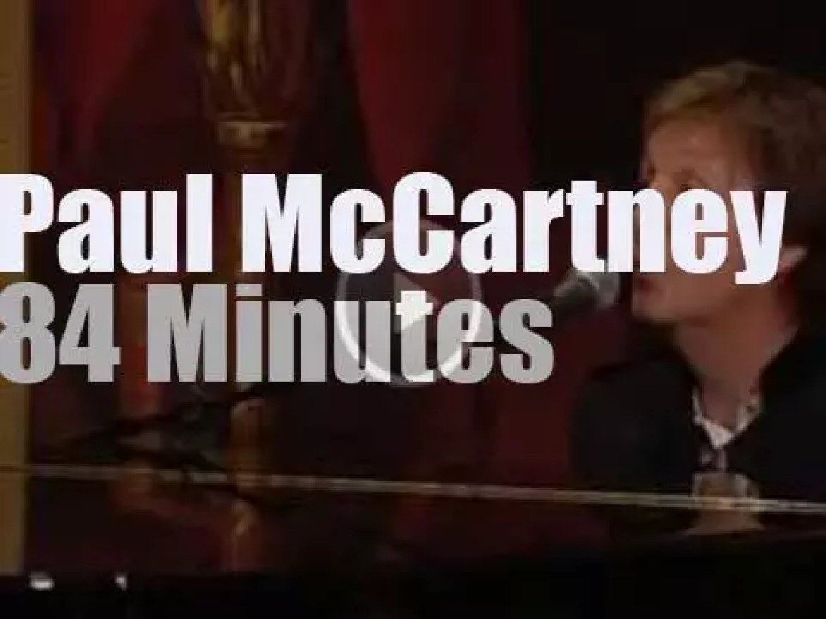 Paul McCartney rules at the White House (2010)